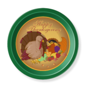 Lg Round Tray_Thanksgiving
