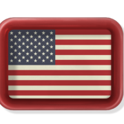 Lg Tray_American Flag
